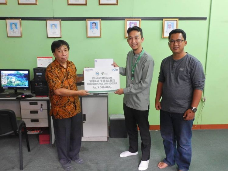 Serikat Pekerja INTI Serahkan Donasi Untuk Palu dan Donggala Melalui Dompet Dhuafa Jabar