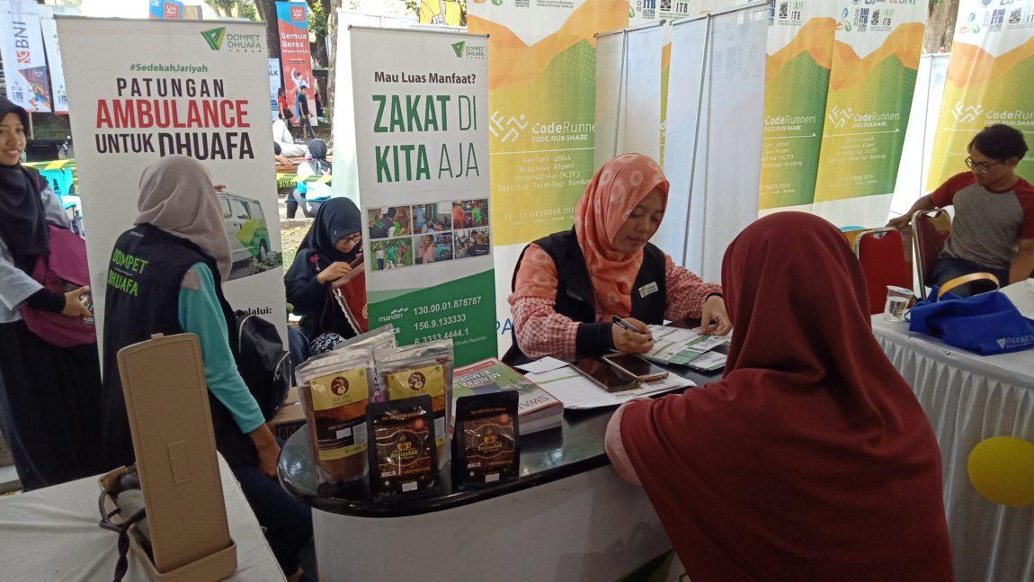 Dompet Dhuafa Jabar Sosialisasikan Zakat di Event ITB Fun Run 5 K 2019