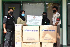 Read more about the article Dompet Dhuafa Jabar Bersama Korps Protokoler Mahasiswa Unpad Distribusikan Ratusan APD